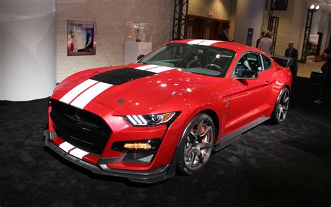 ford debuts 2020 shelby gt500 canadian premiere of the 2020 ford shelby gt500 in toronto
