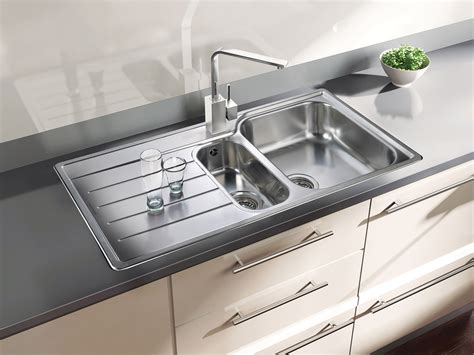 rangemaster kitchen sinks rangemaster oakland 985 x 508mm stainless steel 1 5b inset 1721