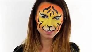 Modele Maquillage Carnaval Facile : maquillage carnaval tigre tuto facile youtube ~ Melissatoandfro.com Idées de Décoration