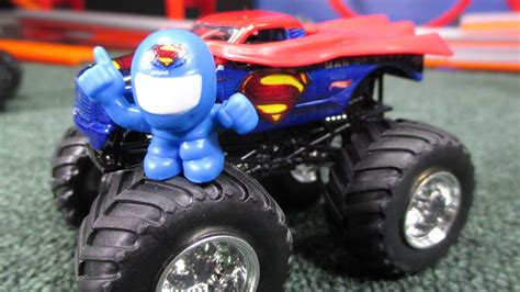 superman monster truck videos man of steel superman wheels monster jam truck