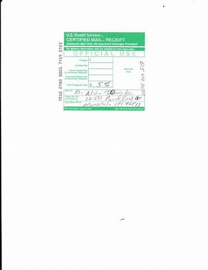 Certified Mail Letter Onaka Foia Registrar Alvin