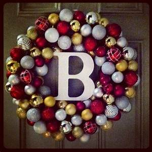 dollar store ornament wreath wreaths swags etc With letter ornaments michaels