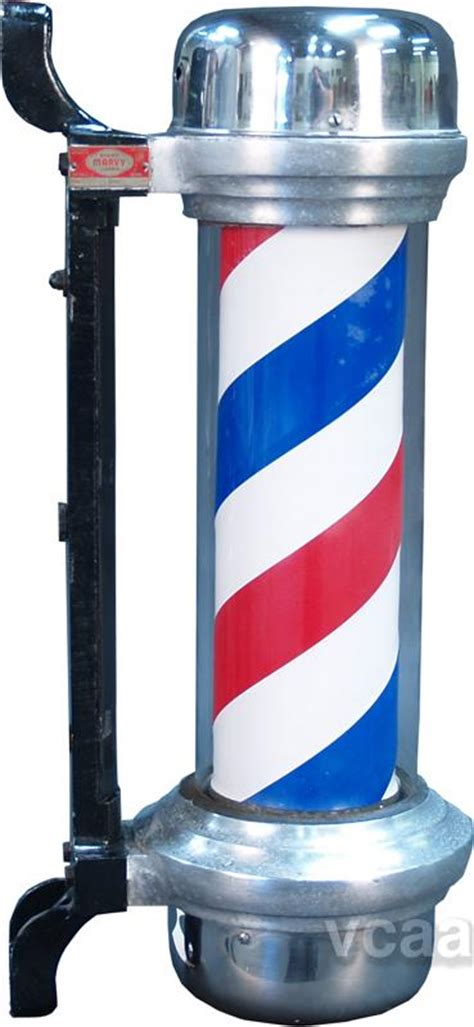 wall mount light up marvy barber shop trade sign pole