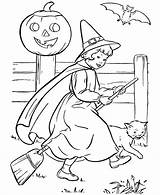 Witch Coloring Printable Pages Sheets Young sketch template