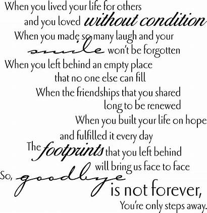 Funeral Tribute Quotes Prayer Grief Goodbye Poems