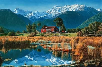Zealand Glaciers Alps Southern Retreating Westland Tai