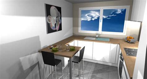 cuisine en parall鑞e implantation cuisine en u photos de conception de maison elrup com