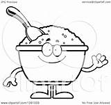 Oat Oatmeal Clipart Template Meal Bowl Coloring Cartoon Pages Vector sketch template