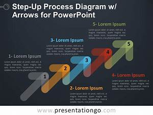 Step-up Process Diagram W   Arrows For Powerpoint