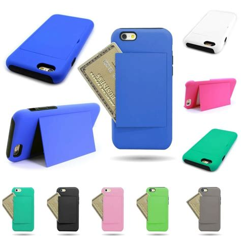 """For the iphone 6 plus and 6s plus, it's worth spending a little extra to protect that investment. Case for Apple iPhone 6s / 6 (4.7"""") with Credit Card Slot Kickstand Hybrid Cover   eBay"""