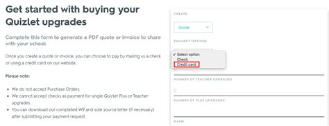 Your subscription will renew automatically unless cancelled at least 24 hours before the end of the current period. Generating a quote or invoice and paying by check | Quizlet