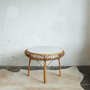 Table Basse Rotin : table basse vintage rotin proche janine abraham atelier du petit parc ~ Teatrodelosmanantiales.com Idées de Décoration