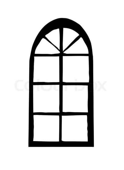 Vektor- Silhouette Fenster auf weißem   Vektorgrafik