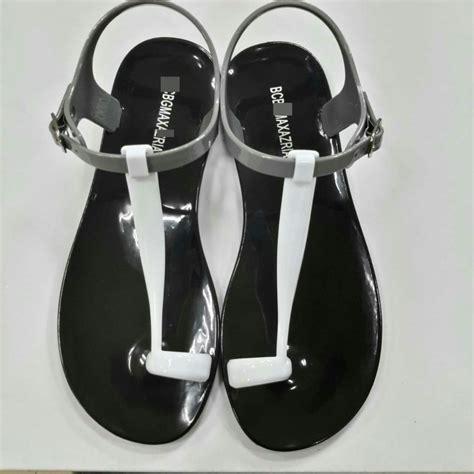designer jelly sandals brand flip flops flat sandals jelly shoes summer