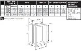 recessed fire extinguisher cabinets dimensions cabinets