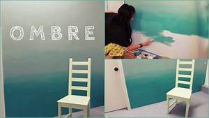 Appealing ombre concept applied for diy wall painting at
