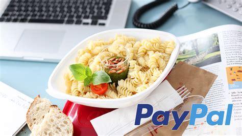 jetzt einfach  essen bestellen und mit paypal