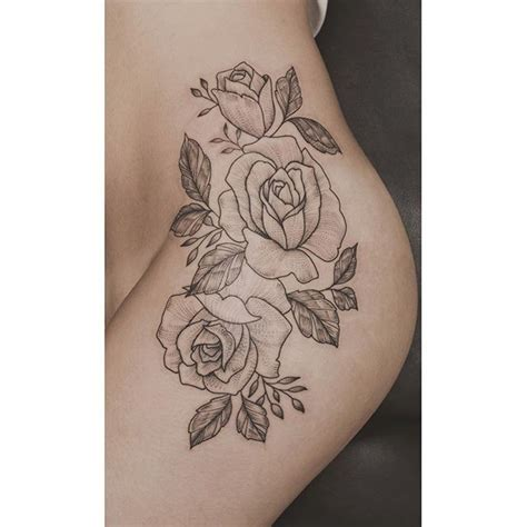 good yarns roses   hip tattoos tattoos flower hip tattoos hip thigh