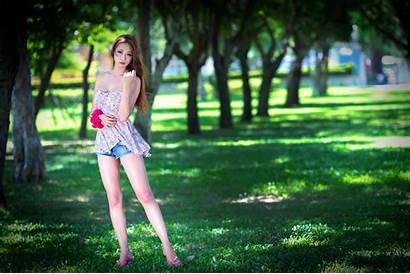 Asian Shorts Woman Short Wallpapers Desktop Wearing