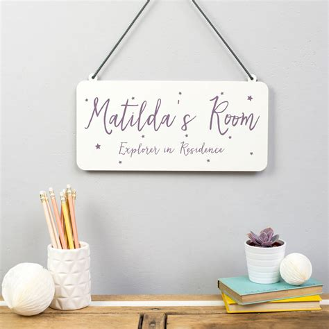 personalised childrens room metal sign  delightful