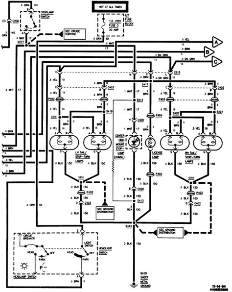 1995 10 Headlight Wiring Diagram by Location Of High Mounted Stop Light Relay Switch Brake