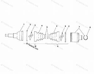 Polaris Atv 2001 Oem Parts Diagram For Rear Drive Shaft
