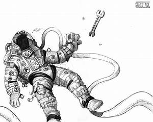 Astronaut Sketch - Pics about space