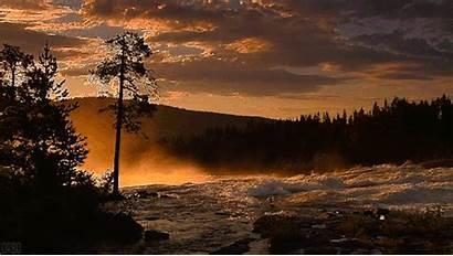 River Dawn Naturaleza Movimiento Mist Cinemagraph Gifs