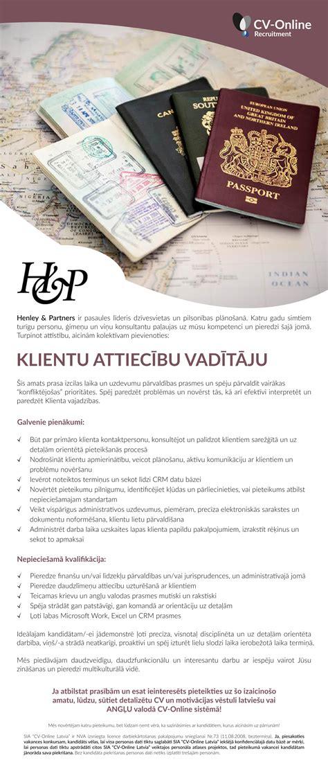 Vakance - KLIENTU ATTIECĪBU VADĪTĀJS/-A, Rīga, Rīgas ...