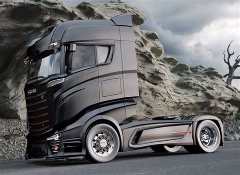 concept work truck bad scania 1000 concept truck scania trucks
