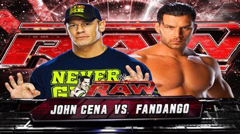 WWE RAW John Cena vs Fandango Full Match HD - YouTube
