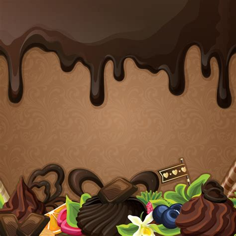 chocolate background vector  vector
