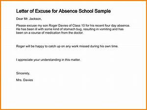 Excuse note for schoolletter of excuse for absence school for School absence note template free