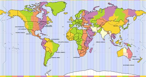 world time zones map world clock travellers