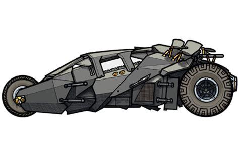 batman car clipart 451 illustration of batmobile tumbler driven by bruce