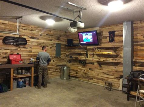 man cave garage reject pallet wood  local sawmill