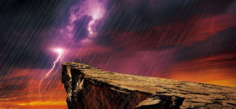 Cool Cliff Image by Rainy Background Drizzle Cliff Background