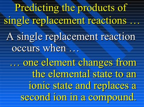Chpt 9 Part Ii  Types Of Reactions 031604