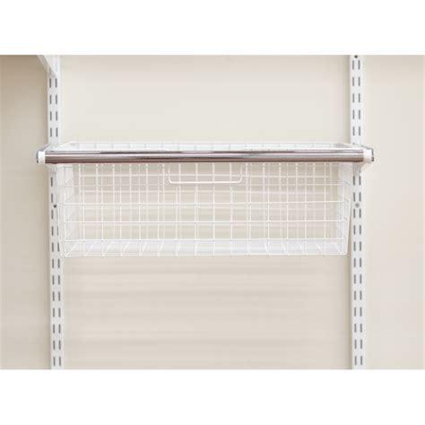 clever closet sliding basket frame white sku 02581210
