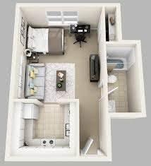 3d floor plan image 0 for the studio floor plan 400 sqft With idee deco studio 30 m2