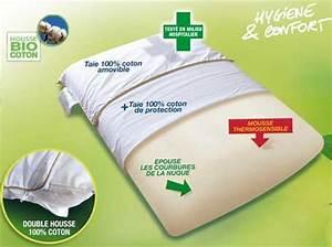 Oreiller Cervical Memoire De Forme : oreiller cervical viscorelax 40x60cm oreiller ergonomique ~ Melissatoandfro.com Idées de Décoration