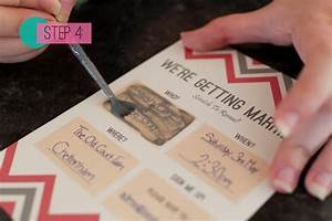 picture of awesome diy scratch card wedding invitations With diy wedding e invitations