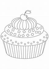 Cake Coloring sketch template
