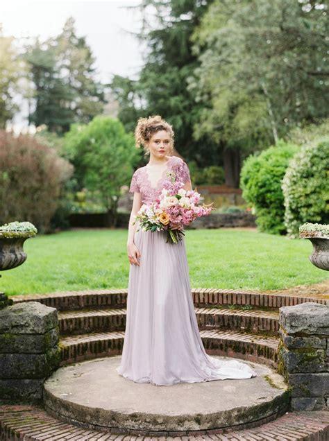 Purple Wedding Dress Romantic Spring English Garden