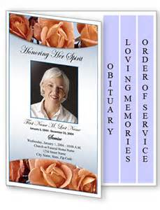 memorial service program template funeral program template 4 page graduated memorial roses