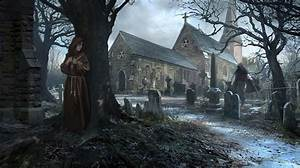 Wallpaper Church Cemetery Gothic Fantasy RhysGriffiths Fantasy