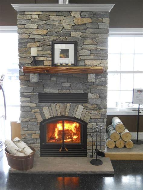 rsf opel  wood fireplace  boston blend ledge stone