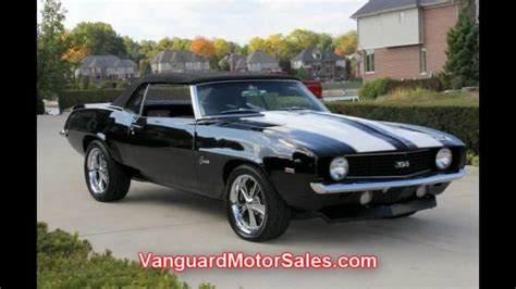 1969 chevy camaro convertible restomod classic muscle car for sale in mi vanguard motor sales