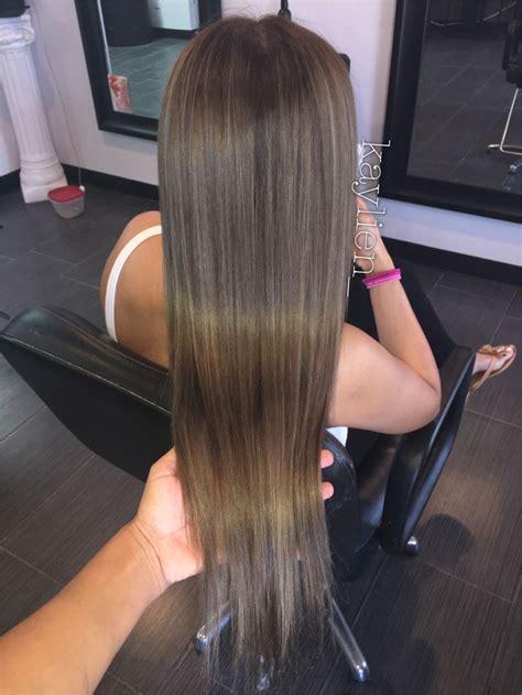 light smokey ash brown  hair creations brown hair