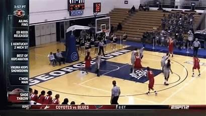 Basketball Shoe Block Shot Georgetown Player Inside